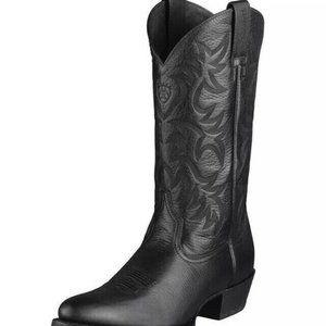 Mens ARIAT 34770 black leather cowboy Heritage